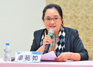 與談人外商保險副總廖苑如,從企業管理角度針砭台灣稅務體制問題。