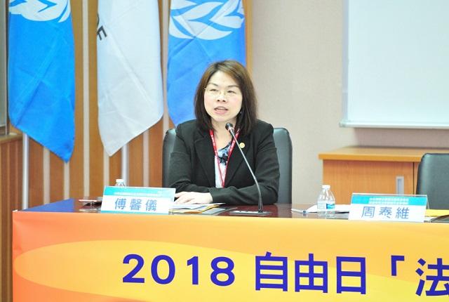 中華民國律師公會全國聯合會副秘書長傅馨儀律師,國稅局是否聽見徵納雙方的意見?如果行政法院的法官聽不見人民的聲音就不是真正的自由。